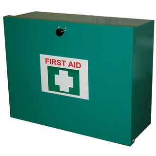 26-50 Person First Aid Kit - Metal Wall Mounted Box