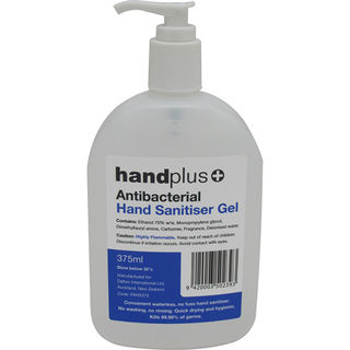 HandPlus Hand Sanitiser Gel 375 ml Pump (Carton of 12)